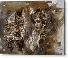 004 Kazakhstan Culture Acrylic Print by Mahnoor Shah