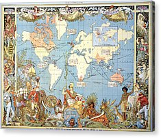Map: British Empire, 1886 Acrylic Print by Granger