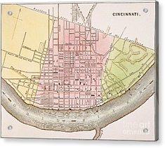 Cincinnati, Ohio, 1837 Acrylic Print by Granger
