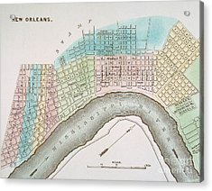 New Orleans Map, 1837 Acrylic Print by Granger