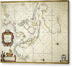 Map: East Indies, 1670 Acrylic Print by Granger