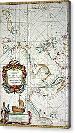 East Indies Map, 1670 Acrylic Print by Granger