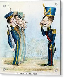 Cartoon: Mexican War, 1846 Acrylic Print by Granger