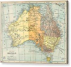Map: Australia, C1890 Acrylic Print by Granger