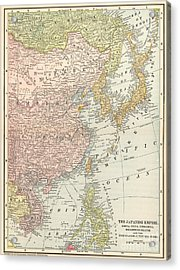 Map: East Asia, 1907 Acrylic Print by Granger