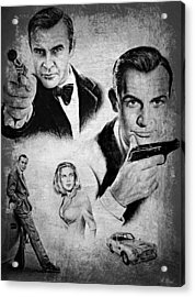 007 Connery Acrylic Print