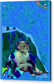 007 The Under Covers Cat Acrylic Print