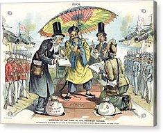Missionary Cartoon, 1895 Acrylic Print by Granger