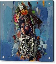 009 Kazakhstan Culture Acrylic Print by Maryam Mughal