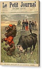 Boer War Cartoon, 1899 Acrylic Print by Granger