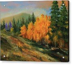 011016-1114  Autumn Aspens Acrylic Print by Kenneth Shanika