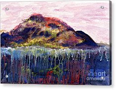 01252 Big Island Acrylic Print by AnneKarin Glass