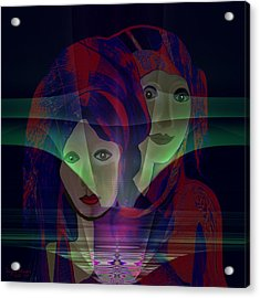 036 - Two Faces Of  Night  Acrylic Print by Irmgard Schoendorf Welch