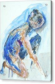 04955 Gardener Acrylic Print by AnneKarin Glass
