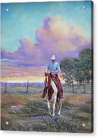 050617-1620   Today Is A One Man Job  Acrylic Print by Kenneth Shanika