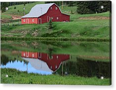 Red Barn Burgess Res Divide Co Acrylic Print