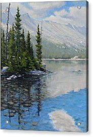 060126-1814  Shallow Waters Acrylic Print by Kenneth Shanika