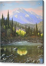 060409-2430  Long Scraggy Mountain - Reflections   Acrylic Print by Kenneth Shanika