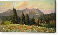 060815-1224  Late Summer Flowers Acrylic Print by Kenneth Shanika