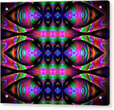 Acrylic Print featuring the digital art #0627201523 by Visual Artist Frank Bonilla