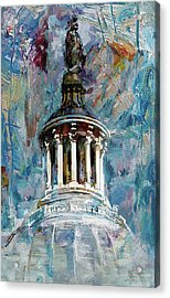 063 United States Capitol Dome Acrylic Print by Maryam Mughal