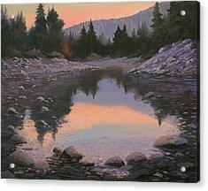 080110-2016  Sundown Reflections Acrylic Print by Kenneth Shanika