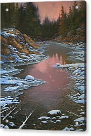 080210-3040 Early Morning Light - Winter Acrylic Print by Kenneth Shanika