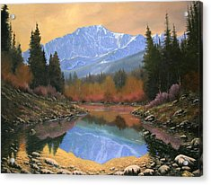 080220-4030 In All Its Glory - Pikes Peak Acrylic Print by Kenneth Shanika