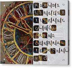 082 Tiffany Clockb Acrylic Print