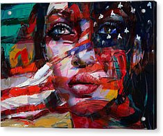 089 Flag And Eyes Acrylic Print by Mahnoor Shah