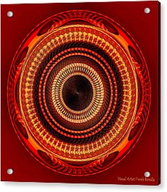 Acrylic Print featuring the digital art #091520152 Orange Version by Visual Artist Frank Bonilla