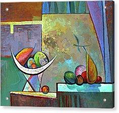 Still Life With Frutit Acrylic Print by Alexey Kvaratskheliya