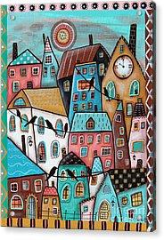 10 O'clock Acrylic Print by Karla Gerard