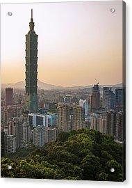 101 Tower Sunset Acrylic Print