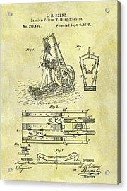 1879 Treadmill Patent Acrylic Print