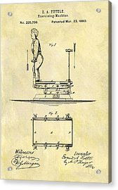 1880 Exercise Machine Patent Acrylic Print by Dan Sproul