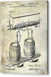 1900 Beer Keg System Patent Acrylic Print by Jon Neidert