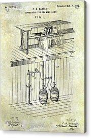 1902 Beer Draft Patent Acrylic Print