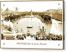 1904 World's Fair, Grand Basin View From Festival Hall Acrylic Print