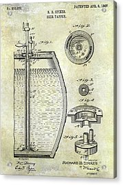 1907 Beer Tapper Patent Acrylic Print