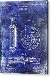 1913 Pocket Watch Patent Blue Acrylic Print