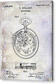 1913 Pocket Watch Patent Acrylic Print