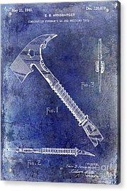 1940 Fireman Ax Patent Acrylic Print by Jon Neidert