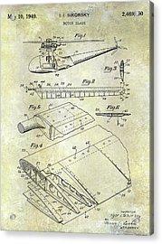 1949 Helicopter Patent Acrylic Print by Jon Neidert