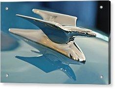 1952 Crosley Super Woody Wagon Hood Ornament Acrylic Print by Jill Reger