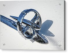 1953 Buick Hood Ornament Acrylic Print by Dennis Hedberg