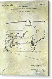 1953 Helicopter Patent Acrylic Print by Jon Neidert