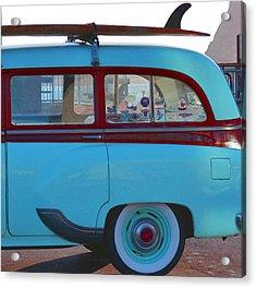 1954 Pontiac Chieftain Station Wagon Acrylic Print by Bill Owen