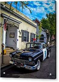 1957 Doylestown Borough Police Cruiser Acrylic Print by Michael Brooks