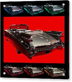1959 Cadillac Eldorado Convertible . Wing Angle Artwork Acrylic Print by Wingsdomain Art and Photography